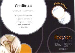 Certificaal ontspanningsmassage