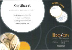 Certificaat cursus hoofdpijn massage