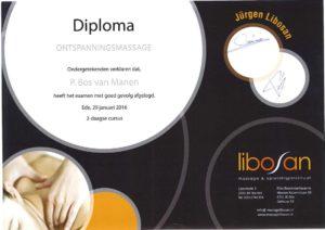 Diploma ontspanningsmassage
