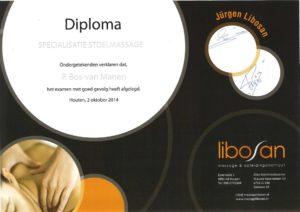 Diploma specialisatie stoelmassage
